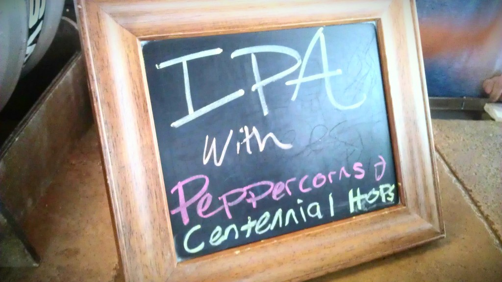 SweetWater IPA cask with peppercorn and centennial hops